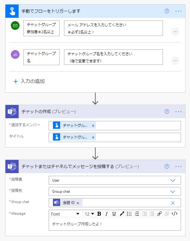 Power AutomateでTeams グループチャット自動作成する3ステップ